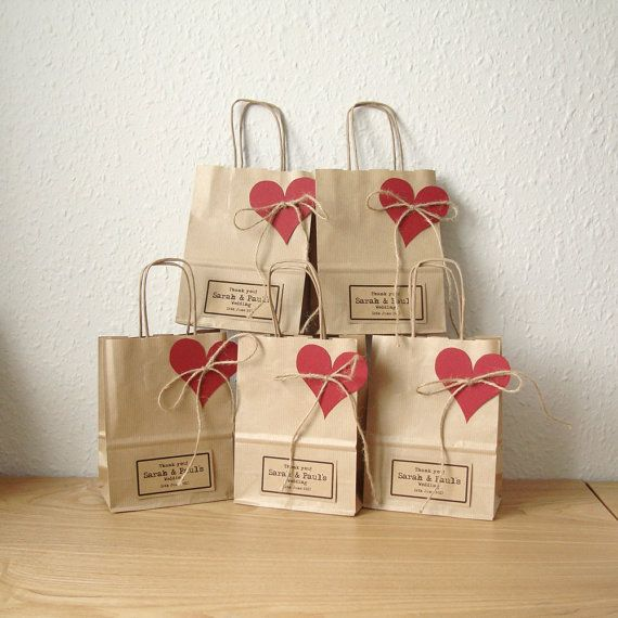 Small Gift For Wedding: Wedding Favour Bag SMALL Gift Bag Brown Paper Gift Wrap