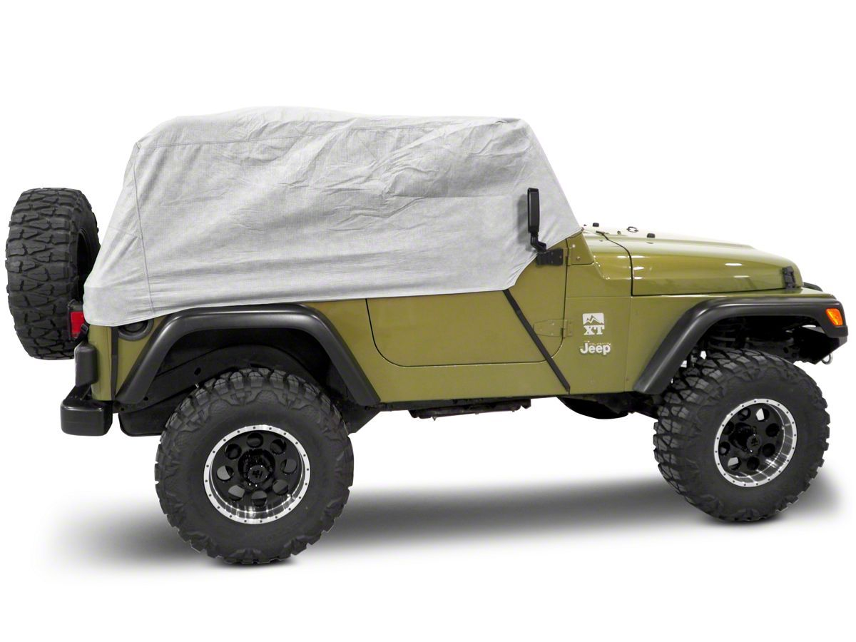 Rugged Ridge Three Layer Deluxe Cab Cover 87 06 Jeep Wrangler Yj Tj Rugged Ridge Jeep Wrangler Yj Jeep Wrangler
