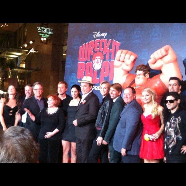 Wreckitralph Cast At Premiere At Elcapitantheatre