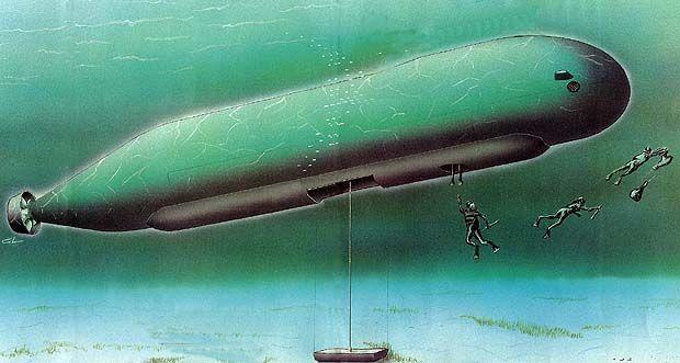 FDRA - Fuerza NavalOperaciones especiales: Minisubmarino Sea Dagger (Suecia)  Minisubmarino SEA DAGGER de Operaciones Especiales (Suecia)