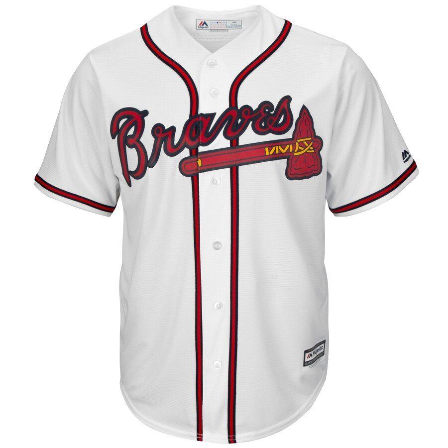 Men S Atlanta Braves Freddie Freeman Majestic White 2019 Home Official Cool Base Player Jersey Atlanta Braves Atlanta Braves Outfit Atlanta Braves Jersey