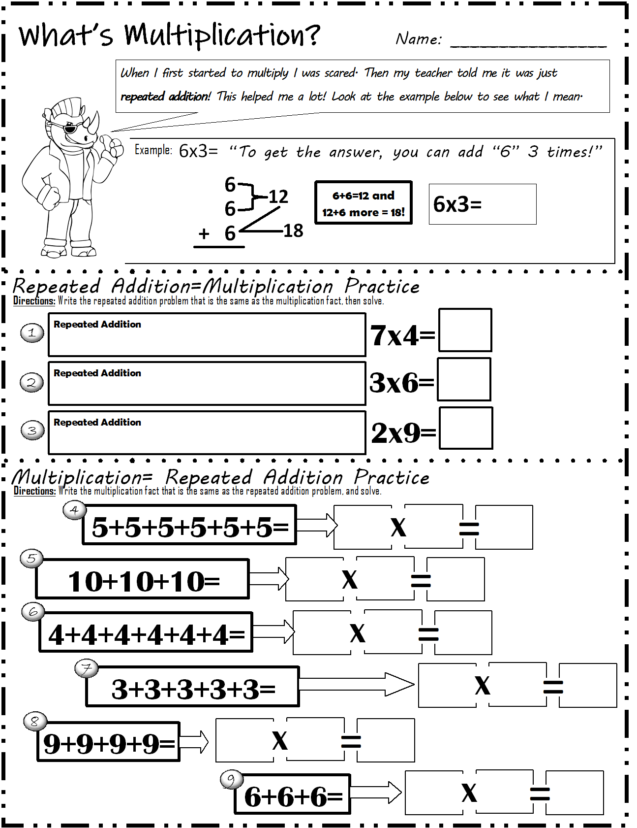 Multiplication Model Strategy Big Worksheet Bundle