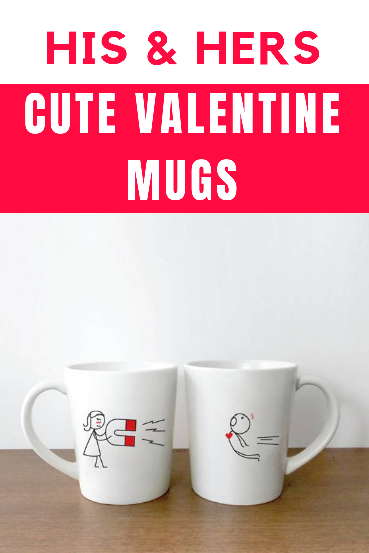 His And Hers Valentine Mugs Valentines Gift For Him Valentines