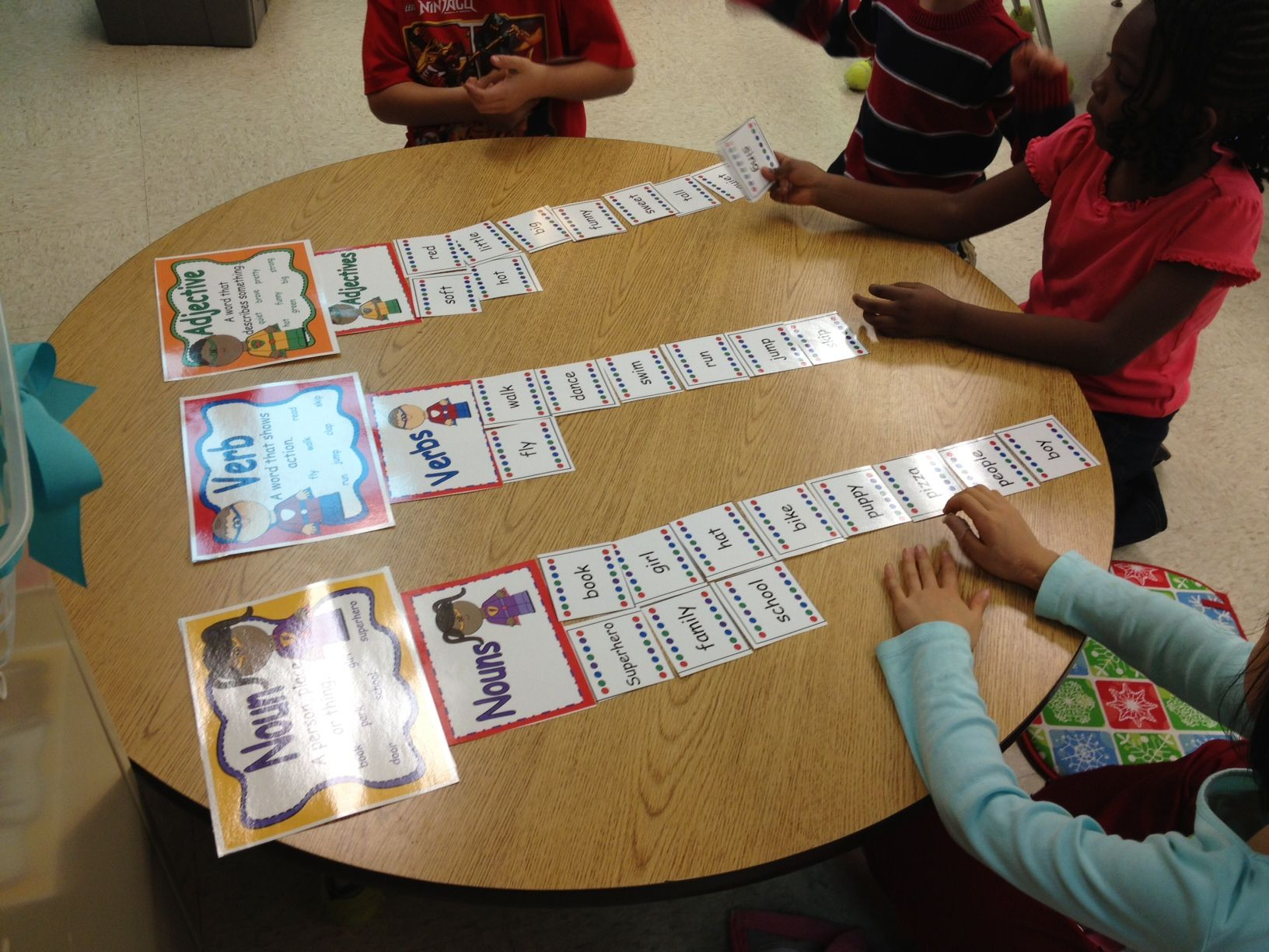 Superhero Nouns Verbs Adjectives Center With Posters And