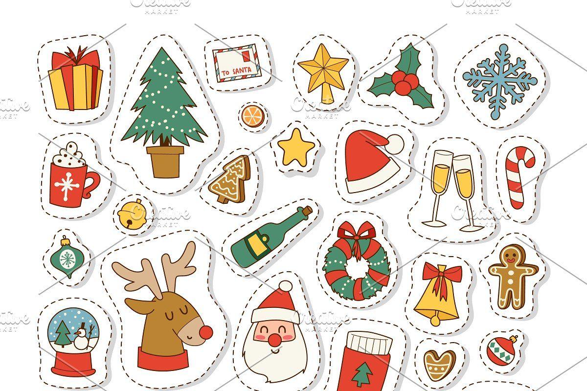 Christmas icons vector symbols ในปี 2020 กระดาษเขียน