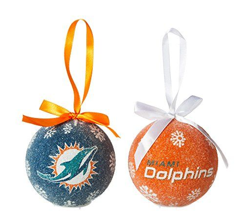 Miami Dolphins LED Boxed Christmas Ornament Set ** You can find ...