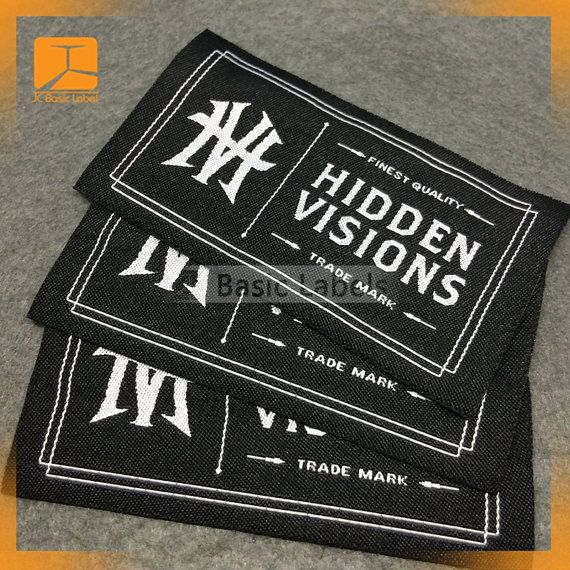 600 Custom Clothing Labels, Woven Clothing Labels, Custom
