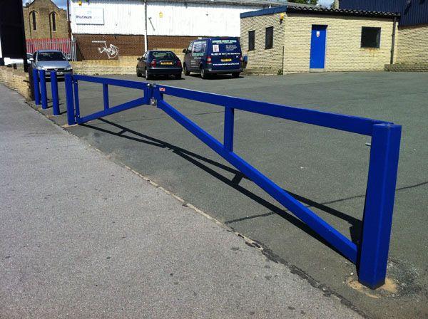 Mimic dual swing manual gate metal mild steel entrance