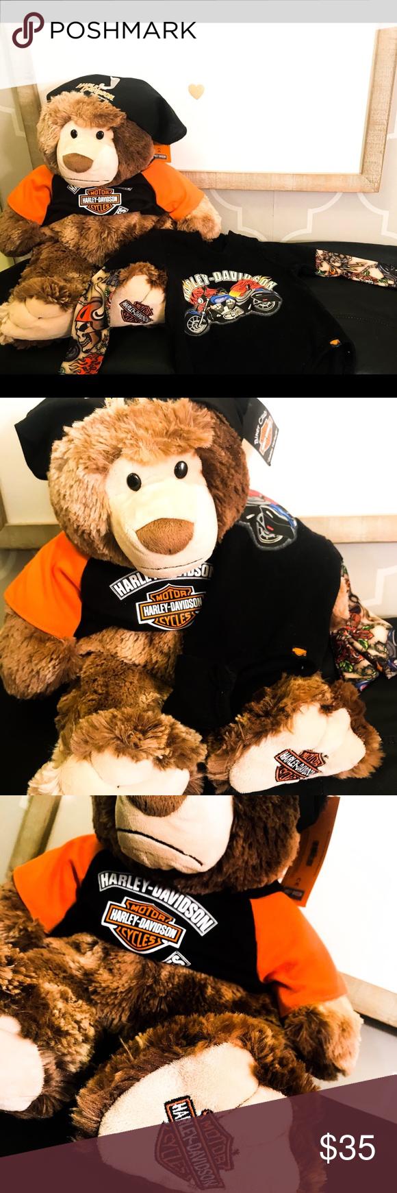 Harley Davidson Bear and onsie baby set!! NWT Harley