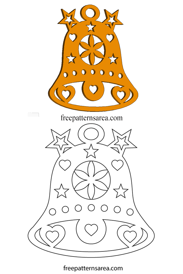 bell template for christmas decoration