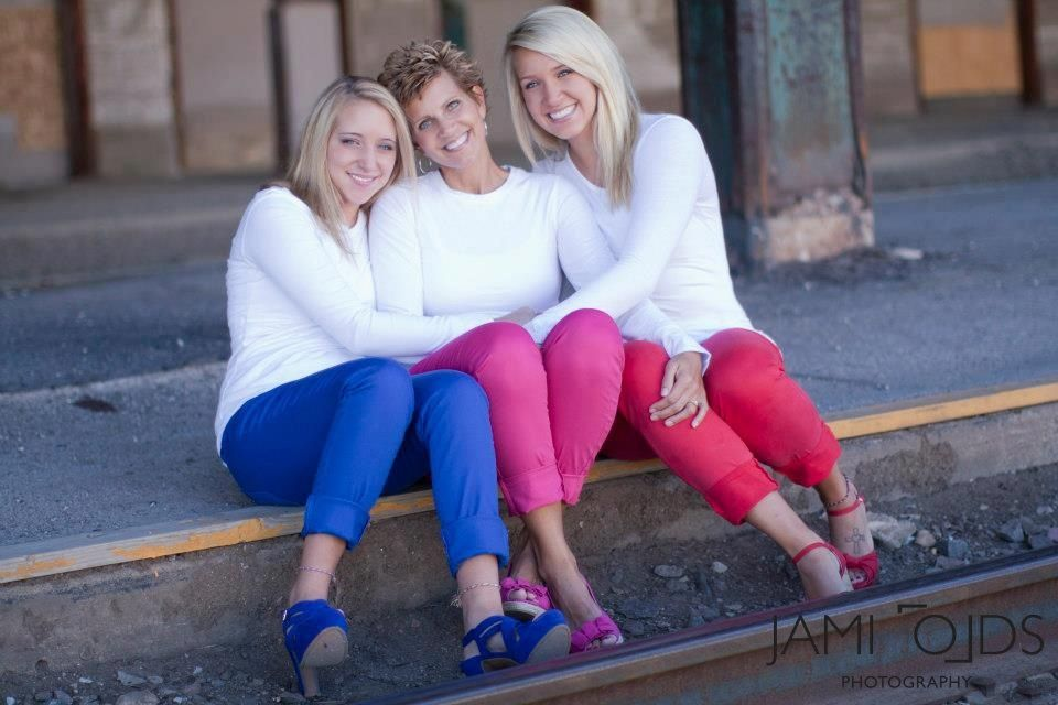 Mother daughters senior picture