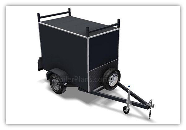 Enclosed Trailer Plans - Build your own Enclosed Trailer.  www.trailerplans.com.au
