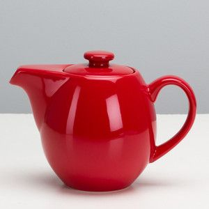 Infuser Teapot 24oz Red now featured on Fab.