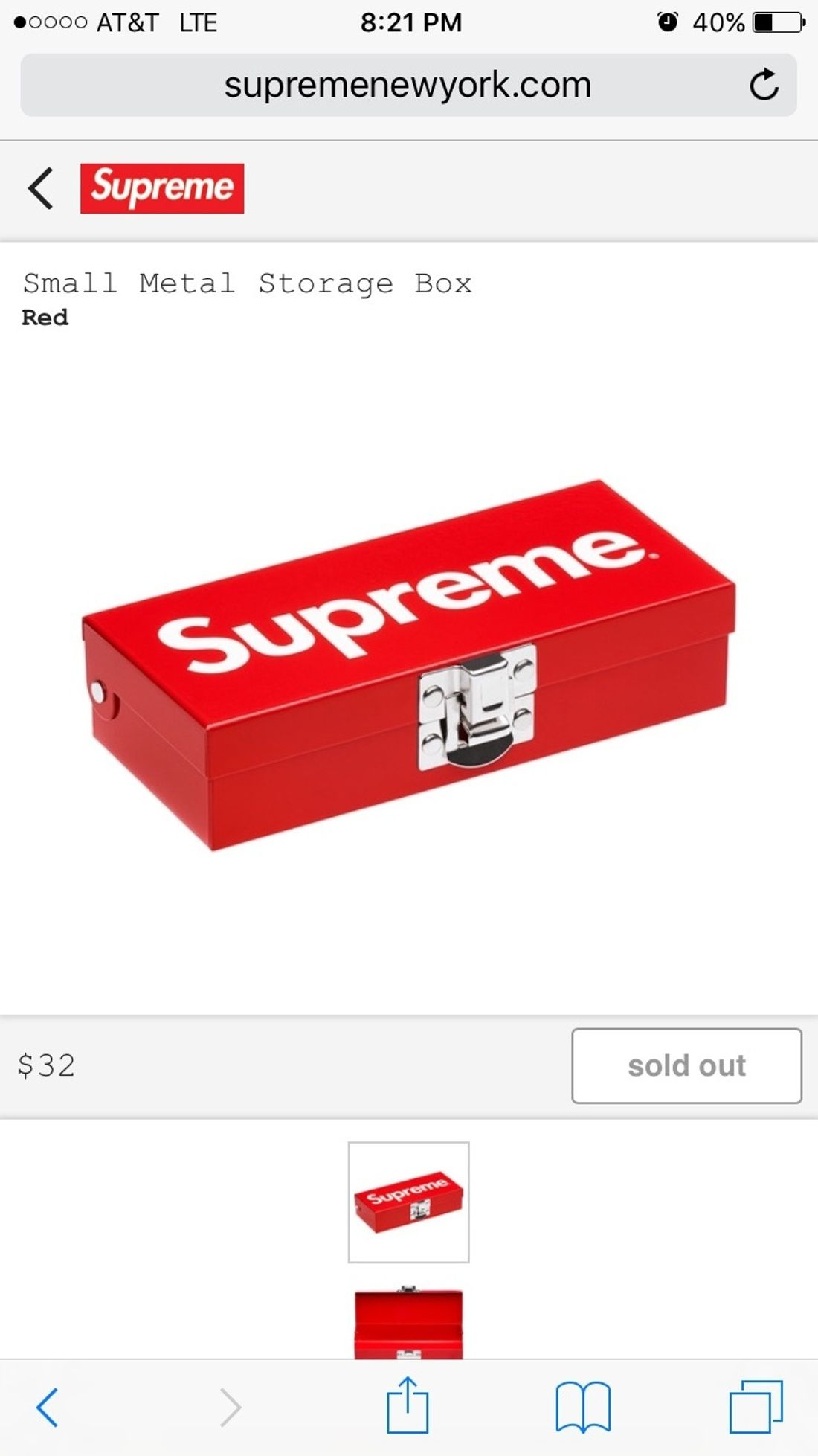 516434e09a6b Supreme Supreme Small Metal Storage Box Size ONE SIZE