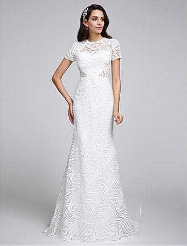 Ankle Length Wedding Dress | Boho lace wedding dress, Boho ...