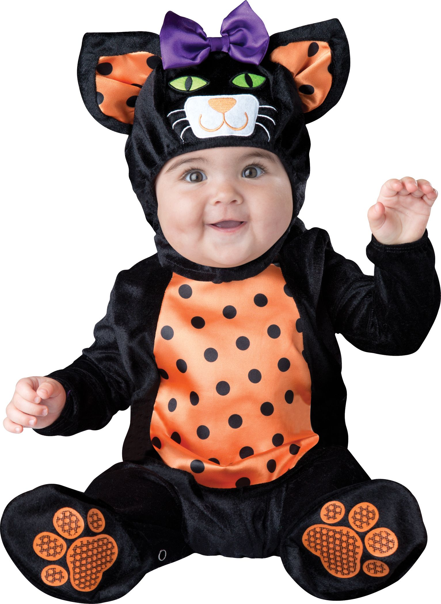 k tzchen kost m katze f r babys schwarz orange g nstige faschings kost me bei karneval. Black Bedroom Furniture Sets. Home Design Ideas