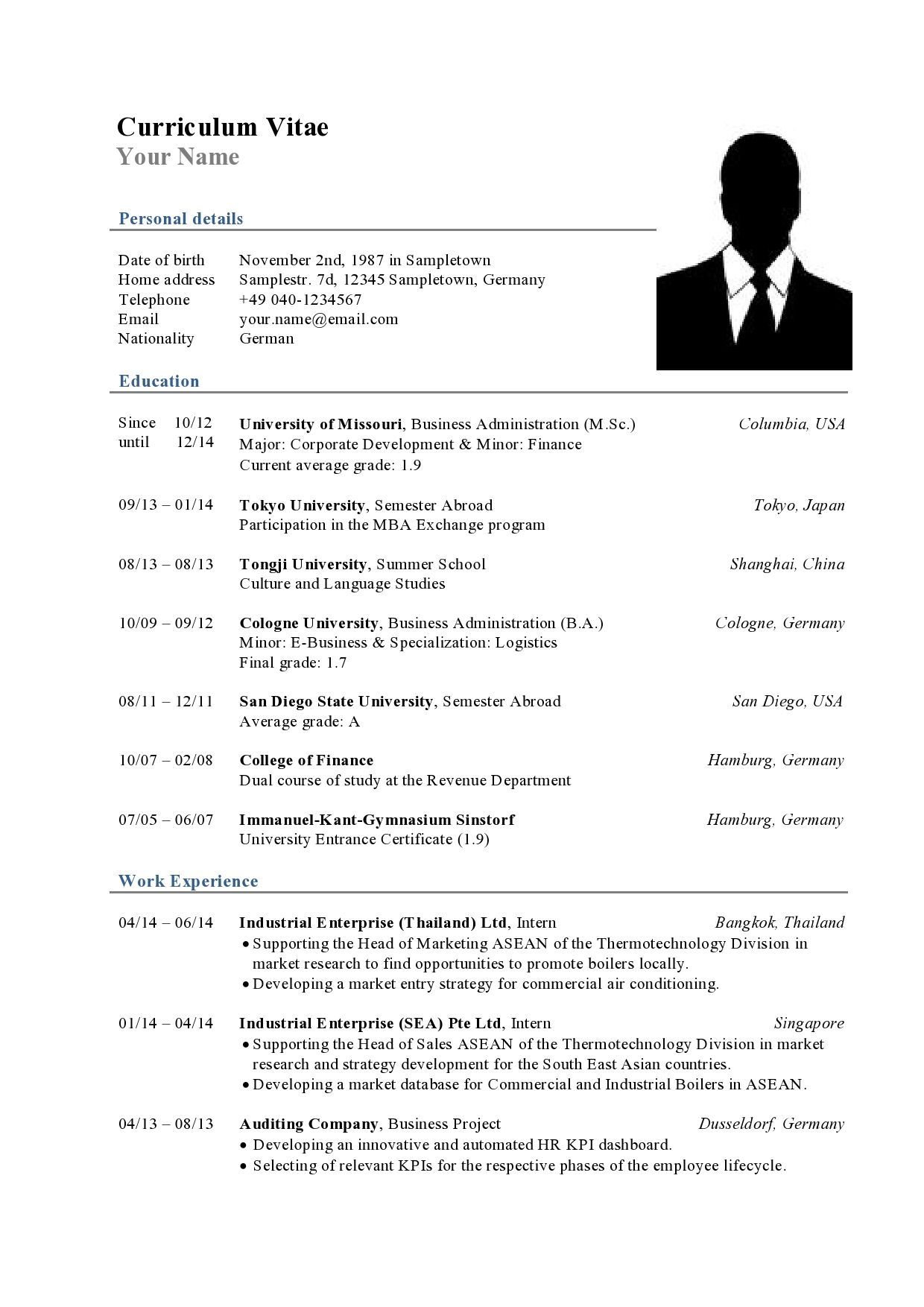 Consulting CV Download your consulting resume template