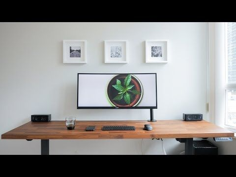 16 Diy Dream Desk Setup Clean Modern Wood Design Youtube Dream Desk Ergonomic Desk Minimalist Desk
