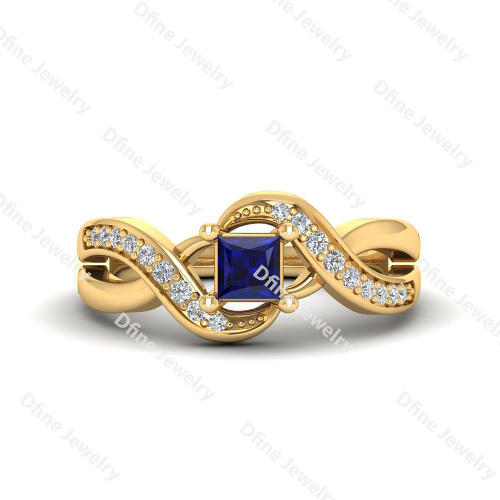 White Diamond Wedding Ring Infinite Ring Bridal Ring Anniversary ...