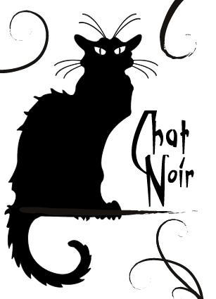 Le Chat Noir By Oddbydefault On Deviantart Le Chat Noir Black Cats Rock Cats Illustration