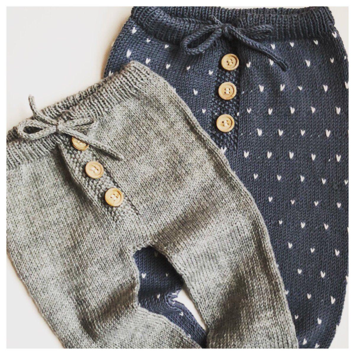 strikkeopskrift babybukser