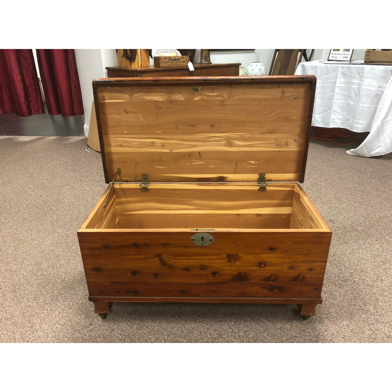 This 1940s Cedar Chest Is On Caster Wheels It Is In Great Shape And Would Make A Perfect Addition To Hold Sheets Cedar Chest Wooden Chest Blanket Chest
