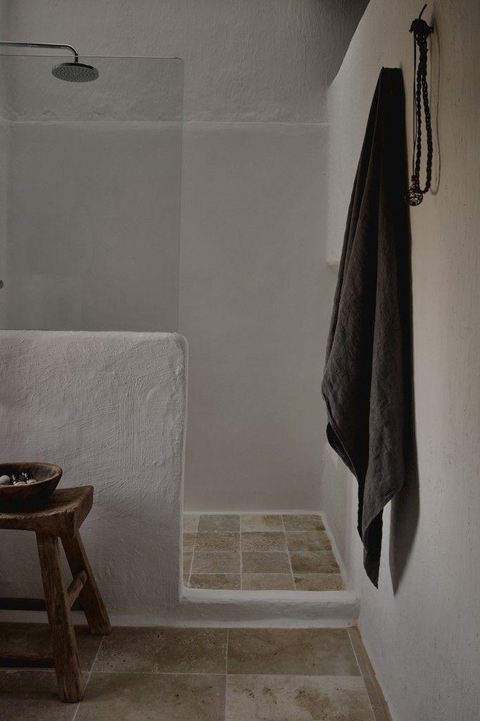 douche maconée + carreaux Salle de bain Pinterest Ibiza, Wabi - salle de bain ardoise