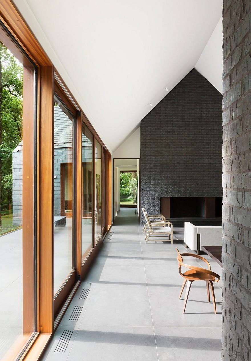 Slate House In A Maryland Forest By Ziger Snead Best Home Interior Design Country Modern Home Modern House Design