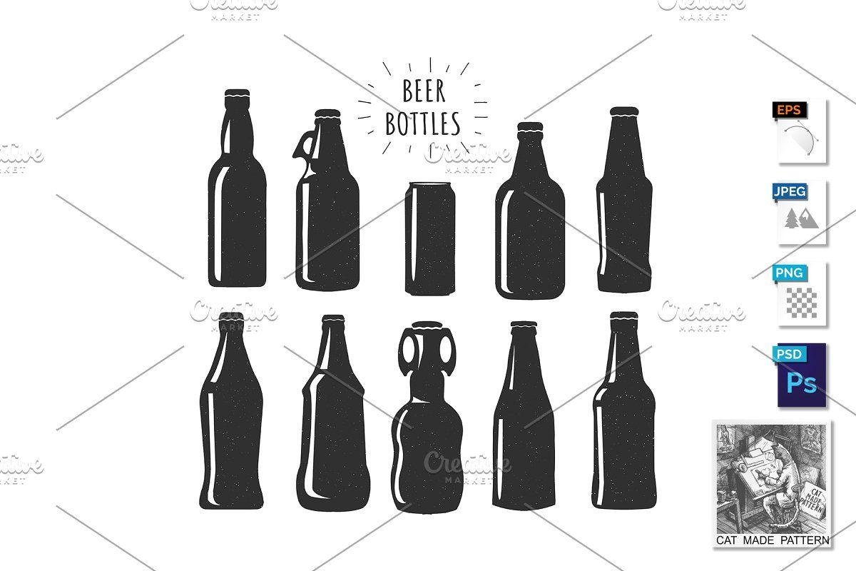 Beer Bottles Stencils Collection Beer Bottle Stencil Beer Bottle Vintage Beer