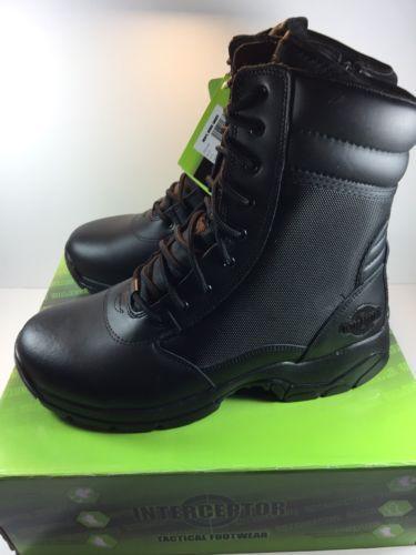 Interceptor Men's Kentin Work Boot / Military Tactical Boots Black- Size 12