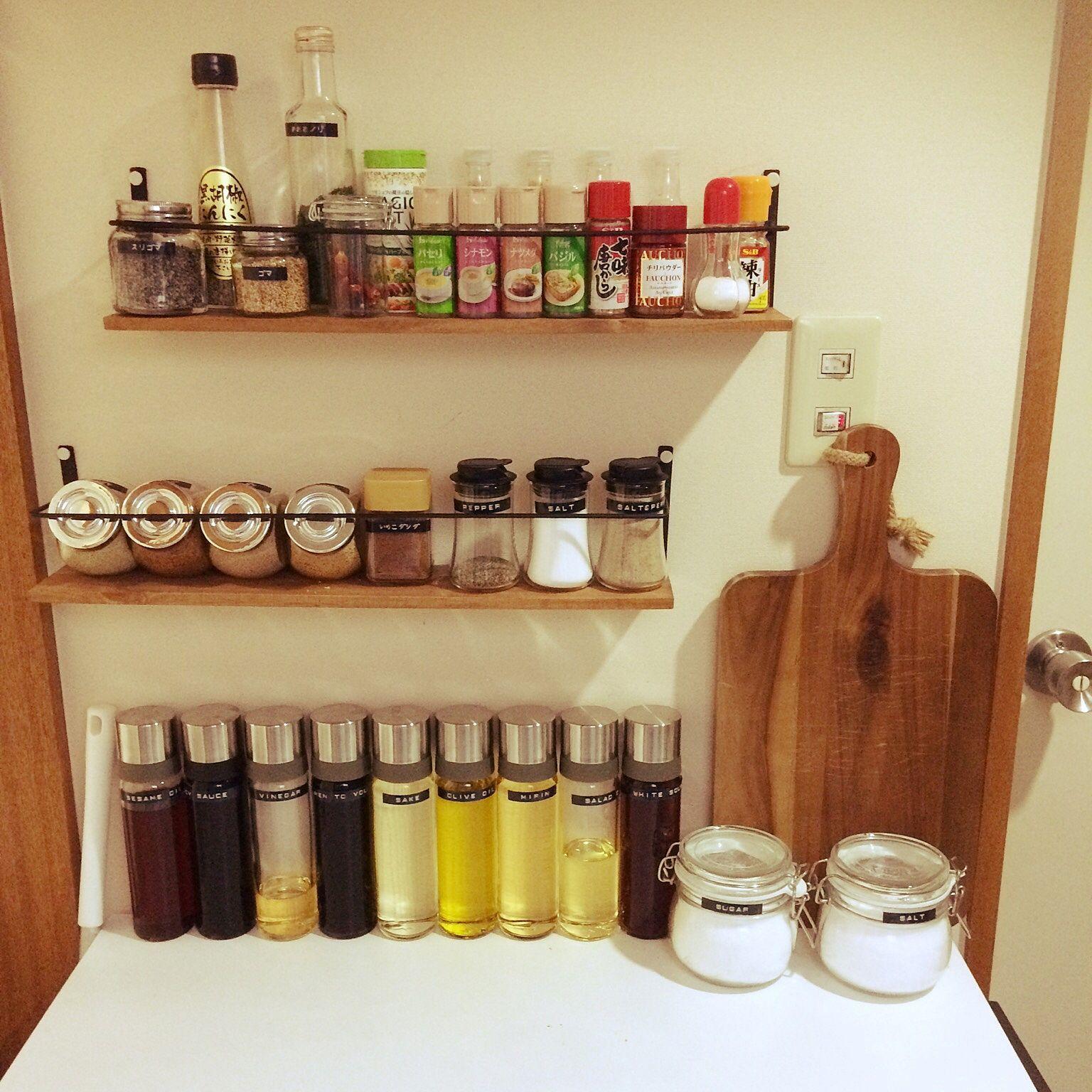 キッチン キッチン収納 Dymo 調味料 Iwakiの調味料入れ などの