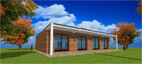 maison toit une pente bac acier | Projet Maisons en 2019 | Maison ...
