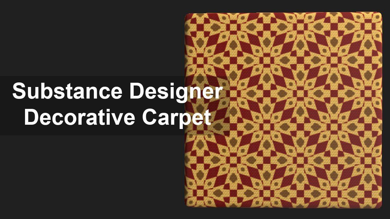 Substance Designer Tutorial Decorative Carpet Substance Designer Tutorial Design Tutorial