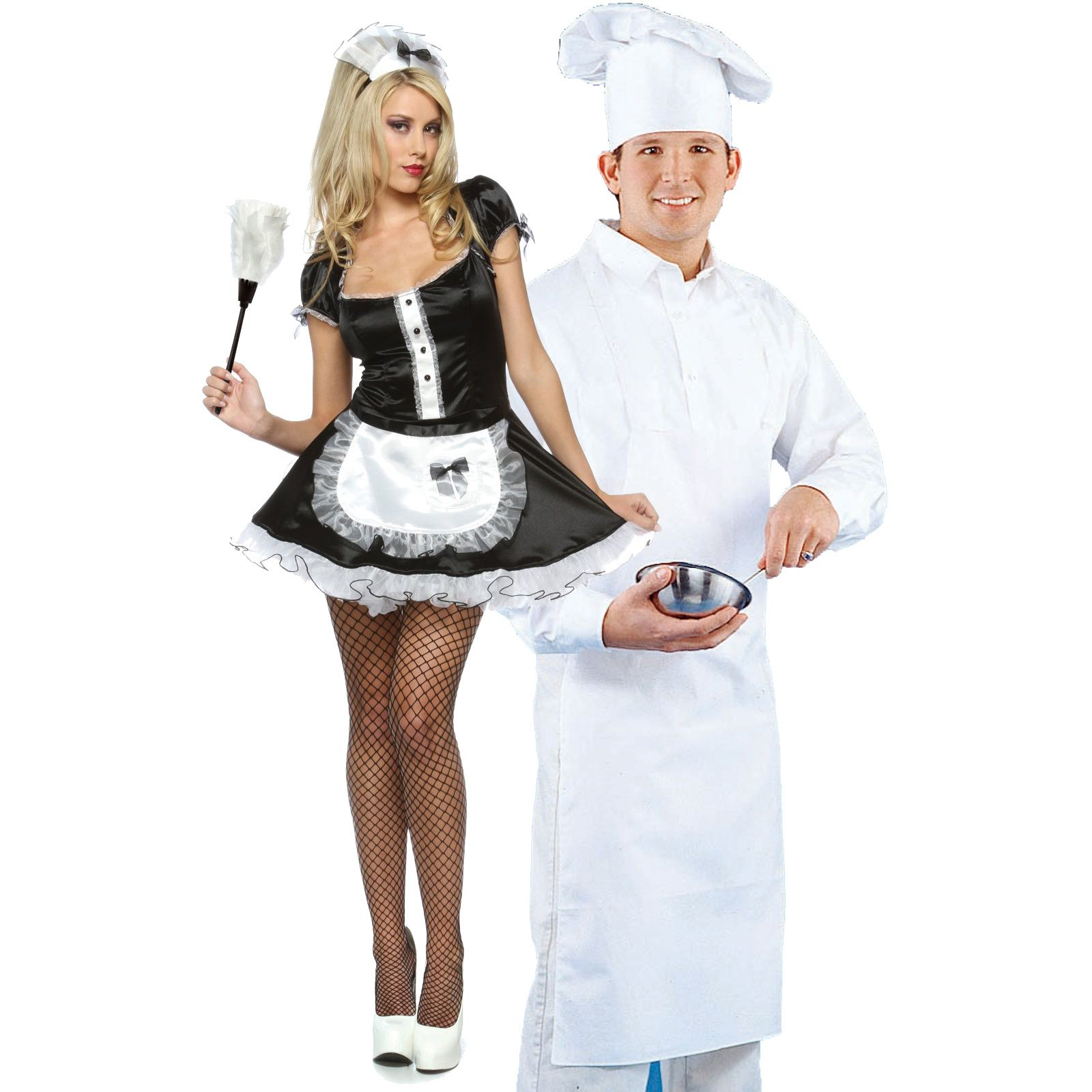 Bonjour Maid and Master Chef Couples Costume - On Sale Today!
