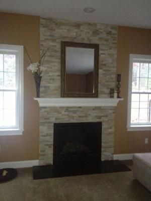 Lowes Desert Quartz Ledgestone Natural Stone Indoor Outdoor Wall Tile Common 6 In X 12 In Actual 6 I Fireplace Cheap Fireplaces Cheap Renovations