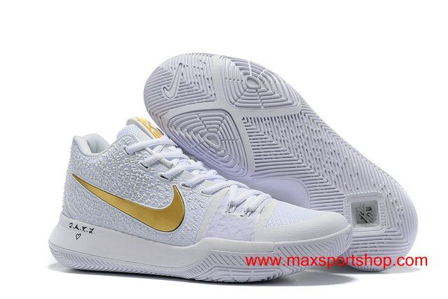 8b892a30879b4 2017 Nike Kyrie 3 Signature ID White Gold Men's Basketball Shoes $76.00