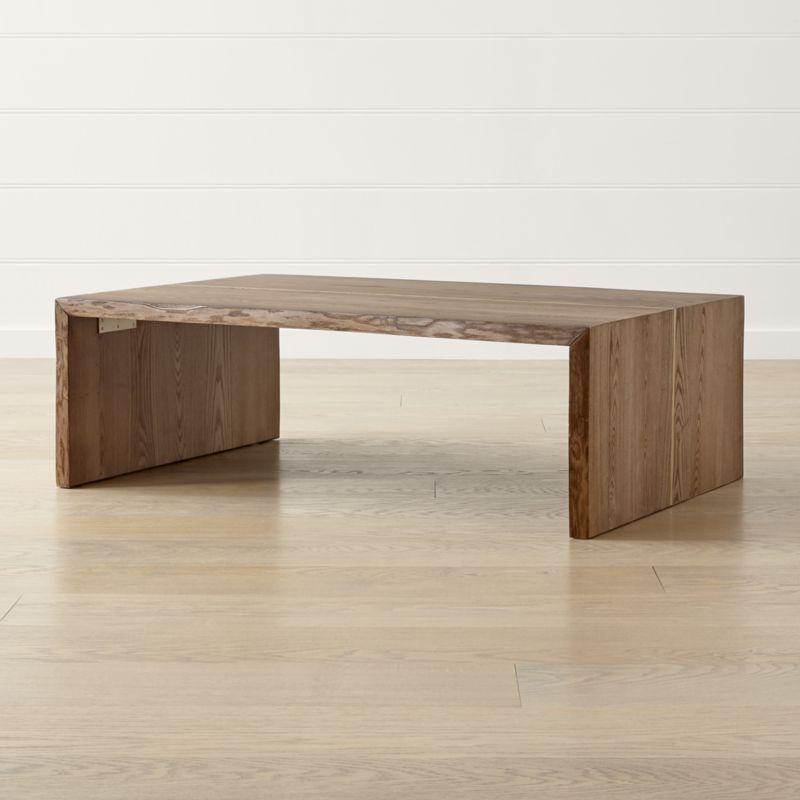 Pleasing Montana Live Edge Coffee Table Coffee Table Crate Barrel Cjindustries Chair Design For Home Cjindustriesco