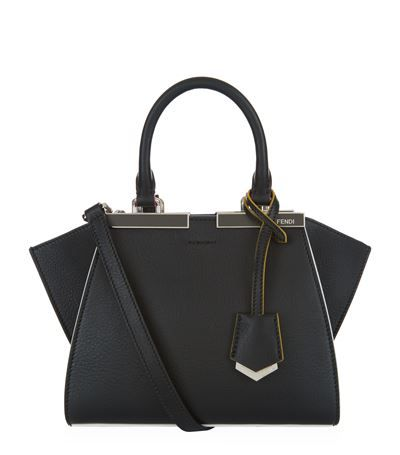 6bd092870e Fendi Mini 3Jours Shopping Bag Black available to buy at Harrods. Shop  designer handbags online and earn Rewards points.