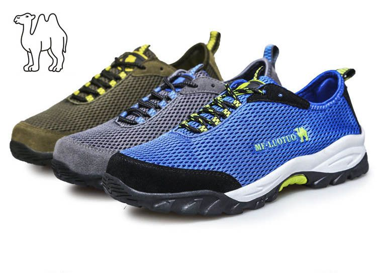 camel outdoor hiking shoes for men trekking shoes Mesh air mountaineering shoes