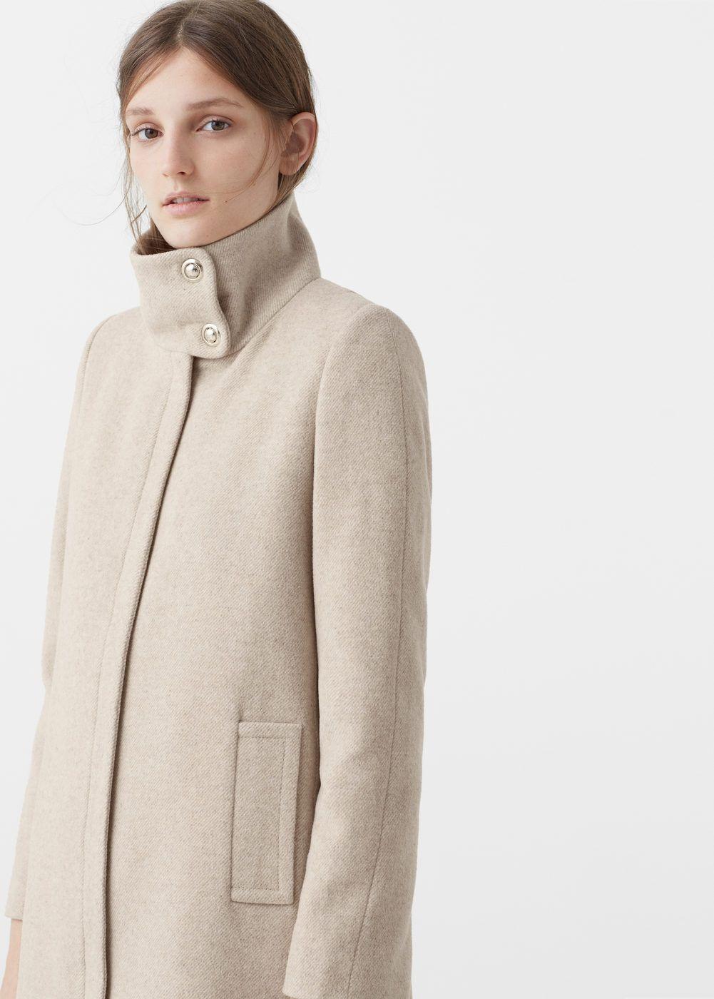 Gerade geschnittener woll mantel Damen | Wintermantel