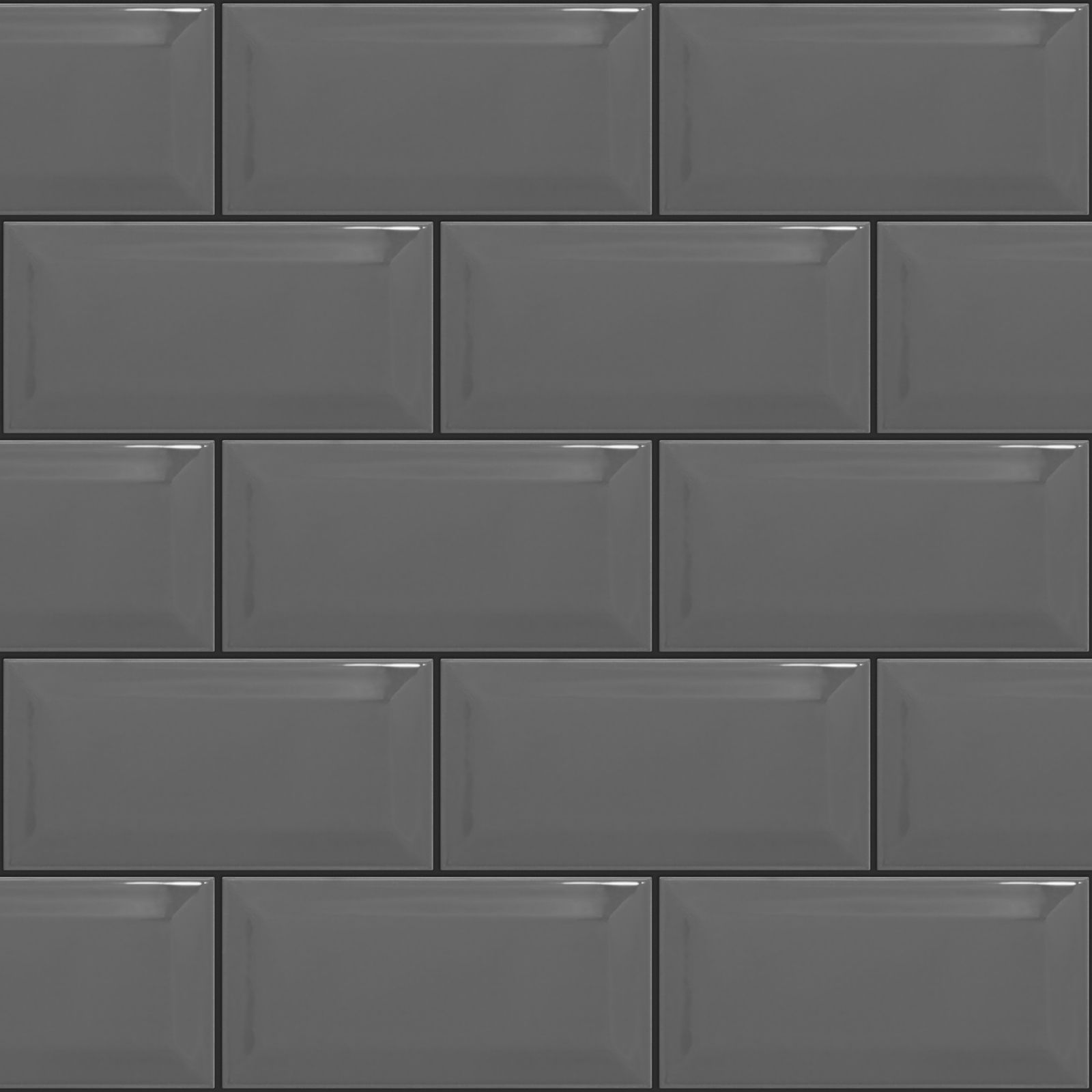 Mid Grey Tile With Charcoal Or Black Contrast Grout Black