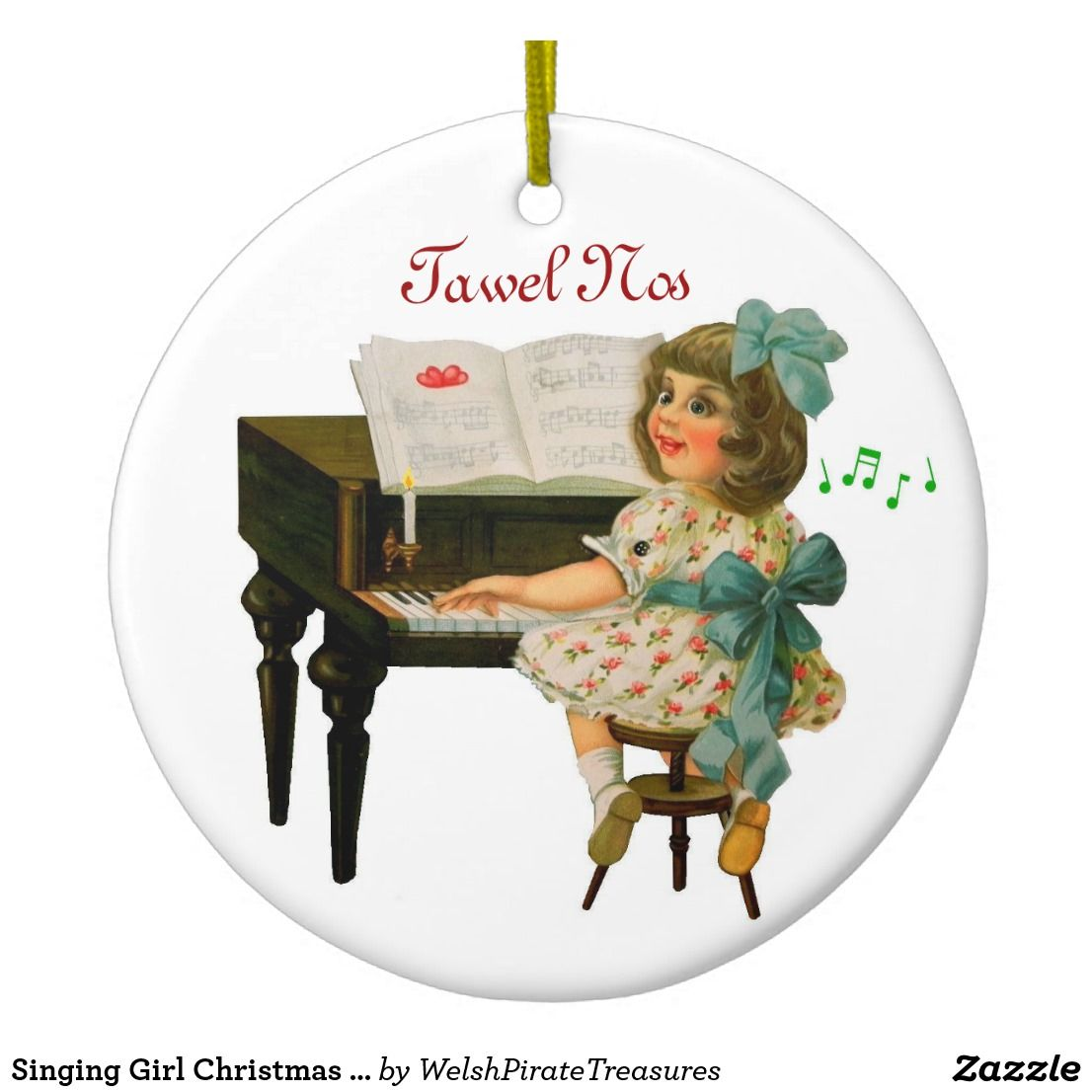 Singing Girl Christmas Ornament | Zazzle.com (With images ...