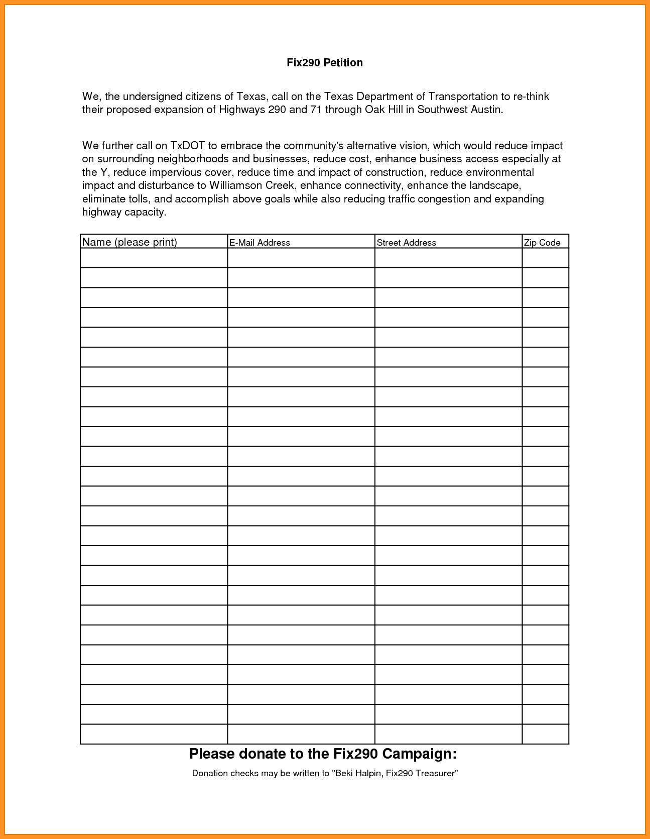 14 15 Petition Template Printable In 2020 Templates Bookmark