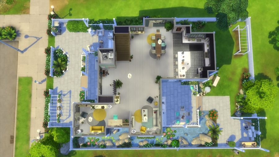 Sims 4 Telechargement Maison Familiale Fete Des Peres Maison Familiale Maison Belle Maison