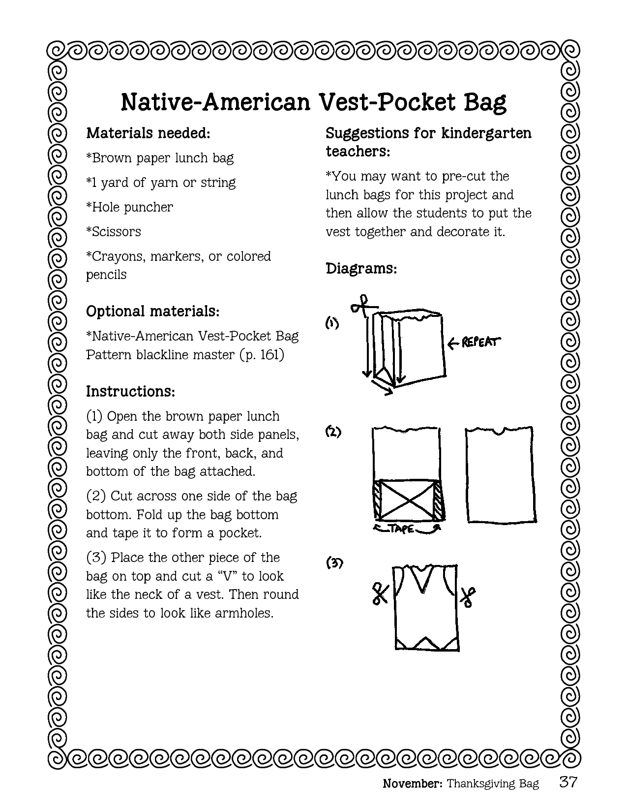 Lunch bag template native american vest pocket bag materials lunch bag template native american vest pocket bag materials needed brown paper lunch jeuxipadfo Gallery