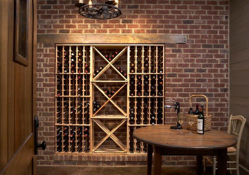 Byo Build Your Own Wine Cellar In Time For Valentine S Wine Cellar Rustic Wine Cellar Modern Wine Closet