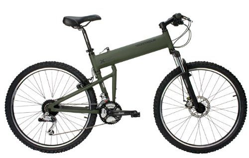 Amazon.com : Montague Paratrooper Mountain Folding Bike, Matte Cammy Green : Mountain Bicycles : Sports & Outdoors
