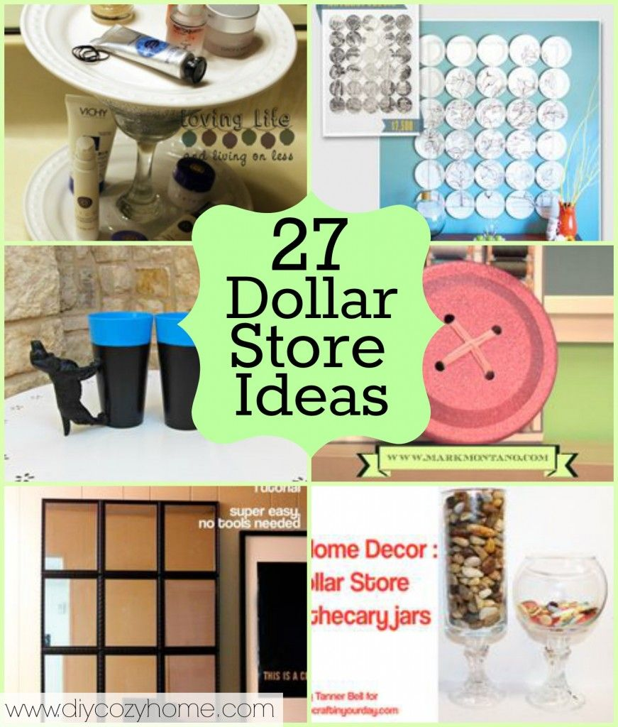 over 90 dollar store crafts to make with 2 roundups savedbyloves diy crafts pinterest. Black Bedroom Furniture Sets. Home Design Ideas