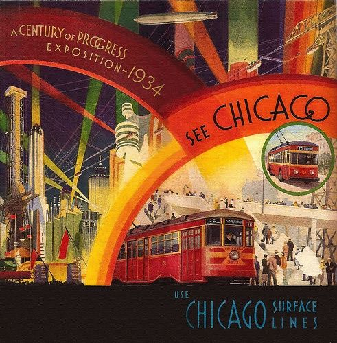 poster for World's Fair in Chicago, 1933