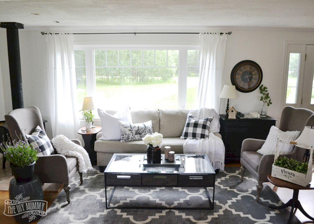 45 Impressive Rustic Farmhouse Living Room Design Ideas   Farmhouse ...